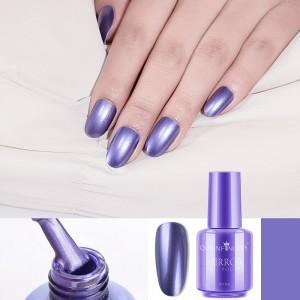 Shiny Waterproof Long Lasting Mirror Nails Polish 10 - Purple Shade