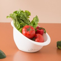 Hollow Design High Quality Plastic Multi Functional Sieve Bowl For Kitchen