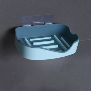 Easy Adhesive High Quality Drainable Soap Rack - Blue
