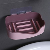 Easy Adhesive High Quality Drainable Soap Rack - Pink