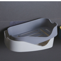 Easy Adhesive High Quality Drainable Soap Rack - Gray