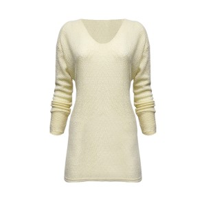 Fabric Pullover Long Sleeves Comfy Wear Cardigan Sweater - Beige