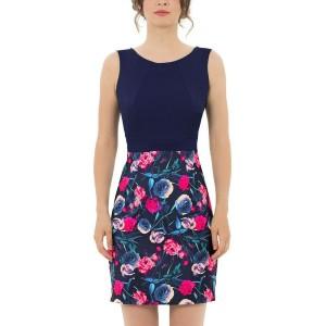 Floral Print Sleeveless Round Neck Mini Dress