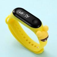 Digital LED Dial Plastic Strap Women Sports Watch - Light Yellow