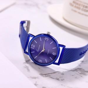 Luxury Wrist Steel Band Women Analog Fashion Watch - Blue