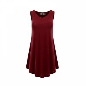 Sleeveless V Neck Solid Color Ruffled Mini Dress - Wine Red