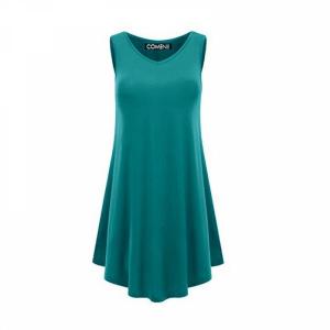 Sleeveless V Neck Solid Color Ruffled Mini Dress - Peacock Blue