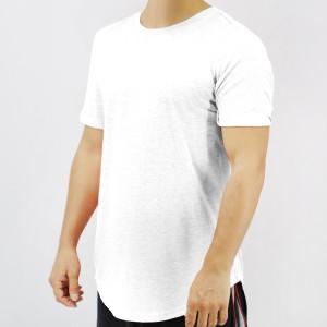 Round Neck Short Sleeves Summer Wear Men T-Shirt - White