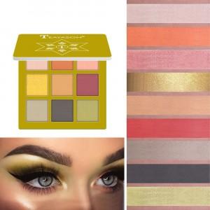 9 Colors Diamond Glitter Eyeshadow Matte - Golden