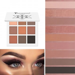 9 Colors Diamond Glitter Eyeshadow Matte - White