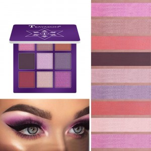 9 Colors Diamond Glitter Eyeshadow Matte - Purple