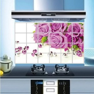 Flower Print Temperature Resistant Anti Dirt Kitchen Protective Sheet