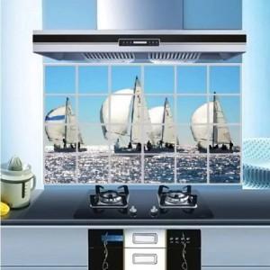 Ocean Print Temperature Resistant Anti Dirt Kitchen Protective Sheet