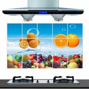Fruit Print Temperature Resistant Anti Dirt Kitchen Protective Sheet