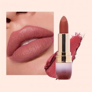 Luxury Women Long Lasting Non Stick Round Tube Matte Lipstick 09 - Bean Red
