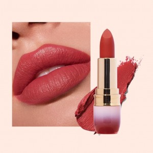 Luxury Women Long Lasting Non Stick Round Tube Matte Lipstick 11 - Dark Red