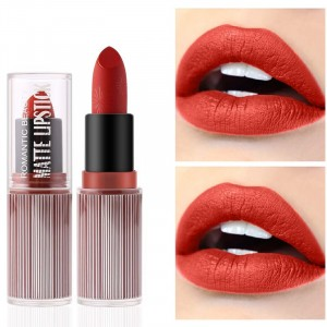 Waterproof Long Lasting Hydrating Solid Color Matte Lipstick 02 - Red