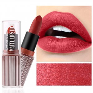 Waterproof Long Lasting Hydrating Solid Color Matte Lipstick 04 - Orange Red