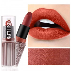 Waterproof Long Lasting Hydrating Solid Color Matte Lipstick 05 - Burgundy