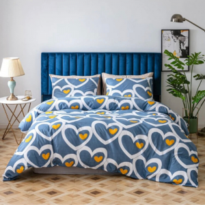 Heart Design Without Filler 6 Pieces King Size Bedding Set