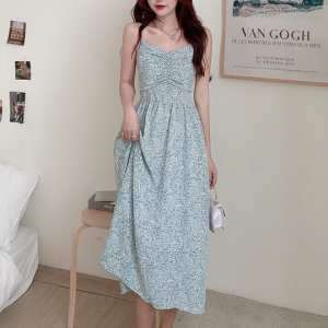 A-Line Printed Women Fashion Vintage Dress