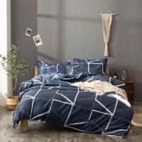 Without Filler Geometric Design 4 Pieces Single Size Bedding Set