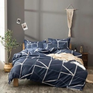Without Filler Geometric Design Queen / Double Size  6 Pieces Bedding Set