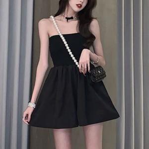 Bandeau Neck A-Line Mini Dress