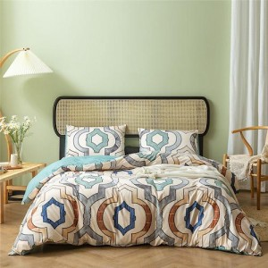 Geometric Design Without Filler 6 Pieces King Size Bedding Set