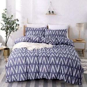 Without Filler Flower Leaves Design Queen / Double Size  6 Pieces Bedding Set