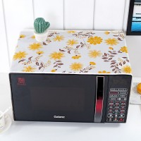 Waterproof With Two Storage Pocket Refrigerator Microwave Own Cover - Yellow