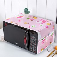 Waterproof With Two Storage Pocket Refrigerator Microwave Own Cover - Pink
