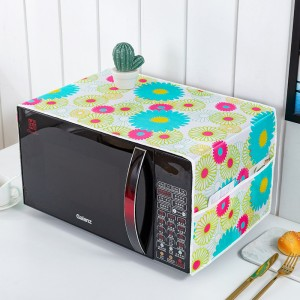Waterproof With Two Storage Pocket Refrigerator Microwave Own Cover - Flower