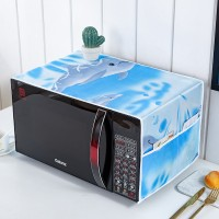 Waterproof With Two Storage Pocket Refrigerator Microwave Own Cover - Sky Blue