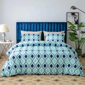 Without Filler 6 PCs King Size Bohemia Design Bedding Set Arctic Blue