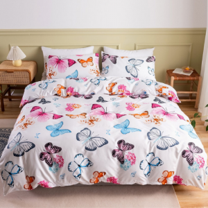 Without Filler 4 PCs Single Size Butterfly Design Porcelain Bedding Set