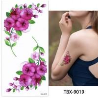 True Colors Print Flower Skin Friendly Tattoo - Multicolor