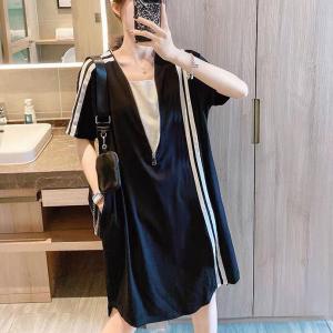 Loose Wear Body Fitted Zipper Dress