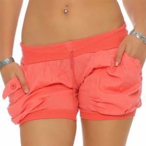 Elastic Waist Loose Wear Women Fashion Shorts - Orange