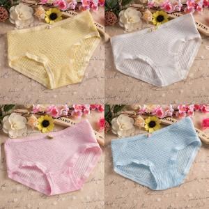 Four Pcs Breathable Cotton Fabric Women Underwear Set