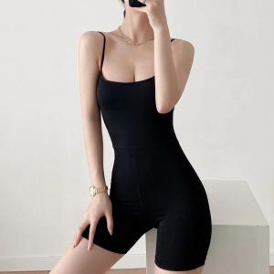Sports Wear Solid Color Women Fashion Swimwear Bodysuit