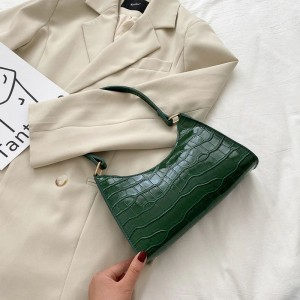 Crocodile Textured Fancy Wear Messenger Bags - Green