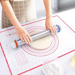 Silicone Easy Baking Tool Measurement Dough Maker Mat - White