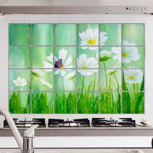 Digital Print Floral Print Adhesive Oil Resistant Kitchen Sheet