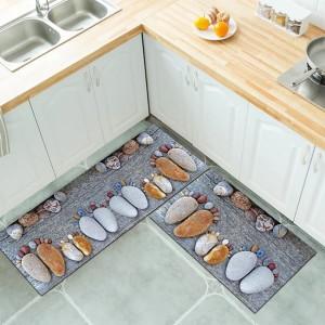 Stone Digital Sea Print Kitchen Corner Floor Mat