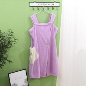 Quick Dry Wearable Super Absorbent Bathrobe - Purple