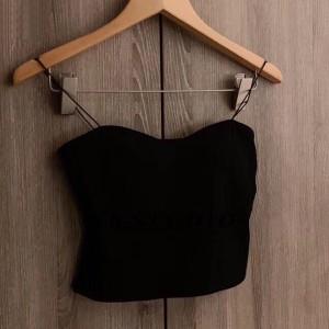 Spaghetti Strap Cami Style Beach Wear Top - Black