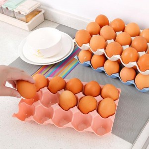 15 Grids Anti Slip Egg Protection Storage Tray - Pink