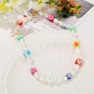 Beads Decorative Hook Closure Bracelet - Multicolor
