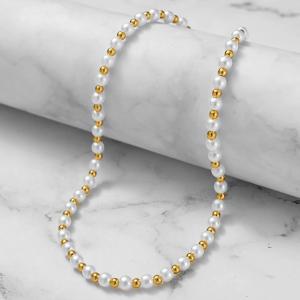 Pearl Decorative Hook Closure Women Fashion Necklace